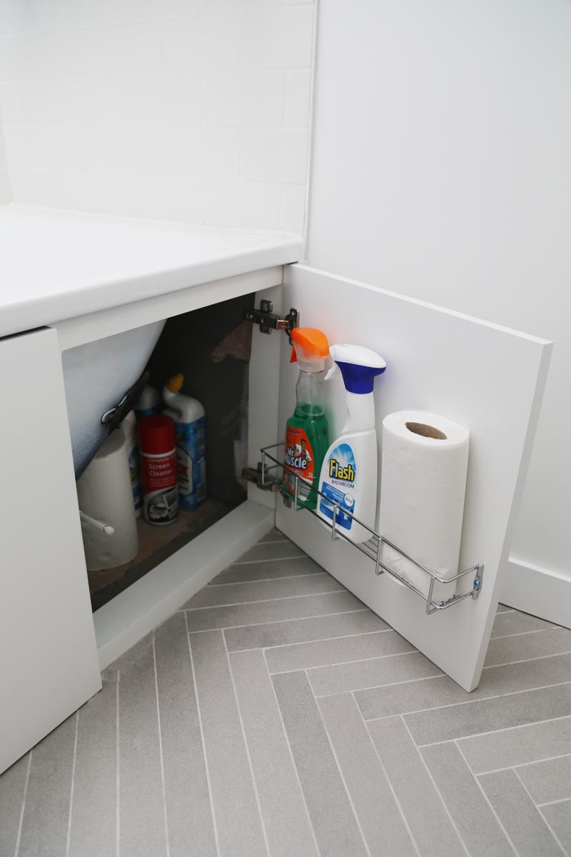A Little More Storage Under The Bathtub Door Eleven